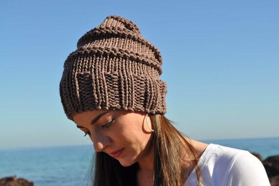 8ac33d0a11f Womens Beanie Slouch beanie Knitted hat Handknit hat Wool