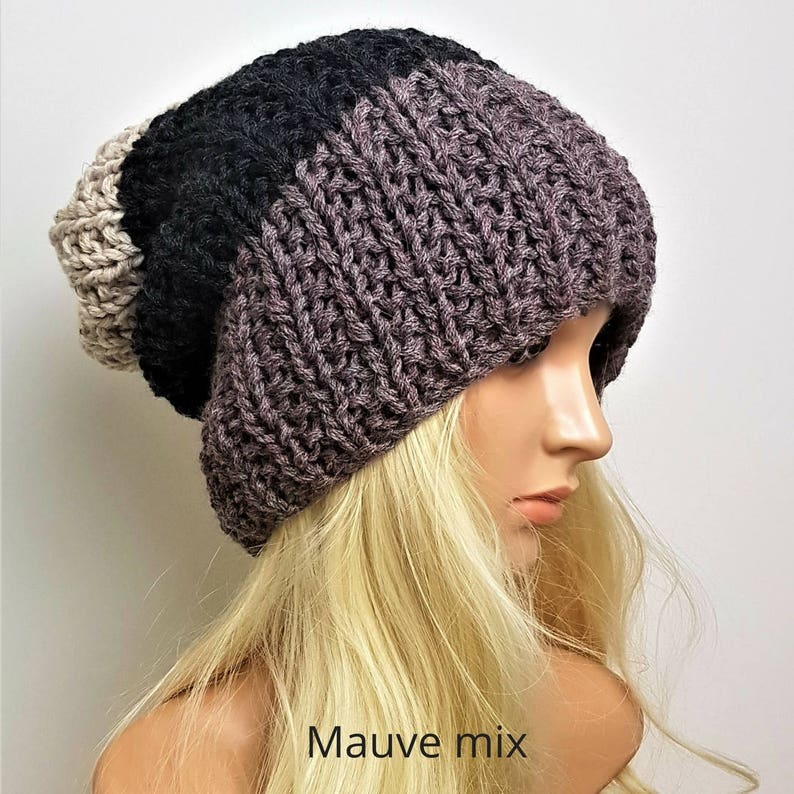 a93041ef6c8 Woman s Slouchy Beanie Hat Knit Beanie Men and Womens