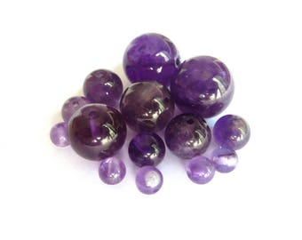 Amethyst bead Ø 8 mm PF0140 has individually gem stone semi precious