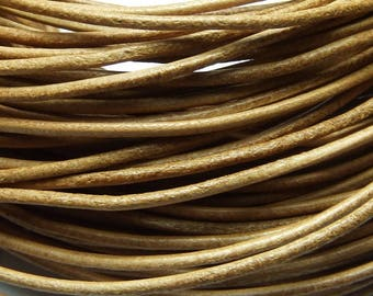 100 m leather 1.5 mm natural PR0500