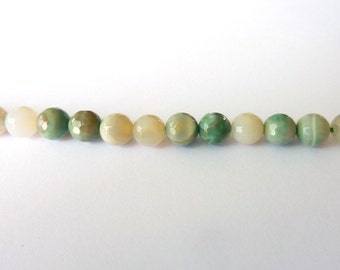 Pearl faceted amazonite PCH0100 Ø 6mm wire length 35 cm