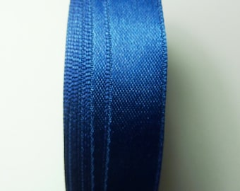 30 meters Satin ribbon 9mm dark blue