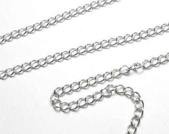 Silver chain 925 PA32-027. Link means torsades