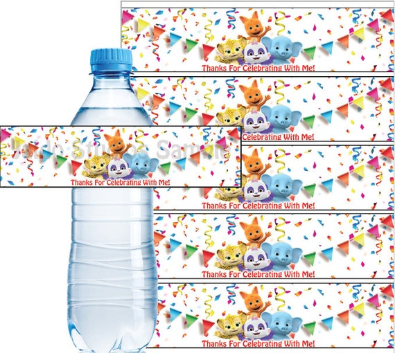 Word Party Water Bottle Labels