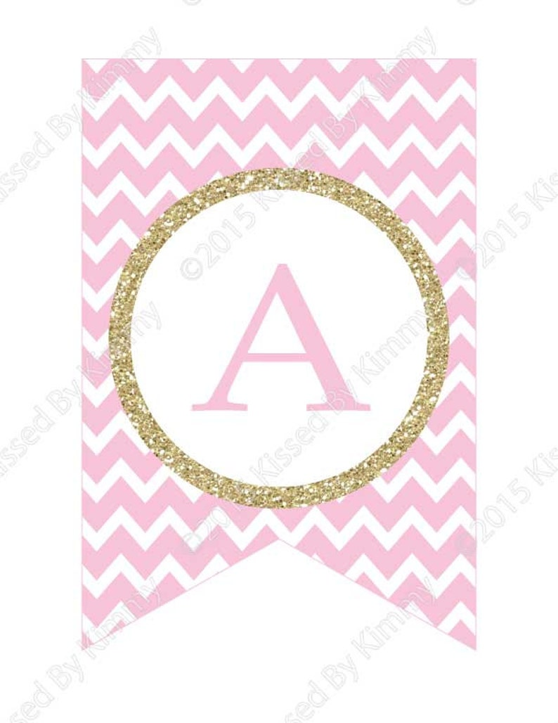 Pink & Gold Glitter HAPPY BIRTHDAY Banner 75% OFF ...