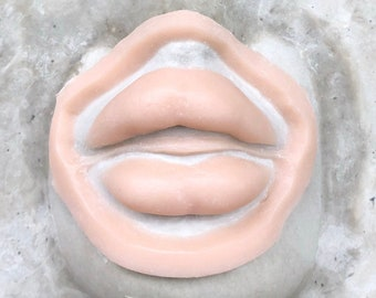 plump lips silicone prosthetic