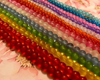 """14 strands of 16"""" Sea glass bead collection"""