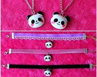 e536476ab Panda choker \ necklace ~ kawaii panda necklace ~ kawaii jewelry ~ fairy  kei necklace ~ pastel jewelry
