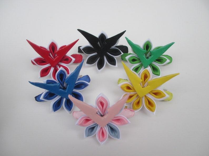 Voltron Inspired Kanzashi Flower Handmade Japanese Fabric Etsy