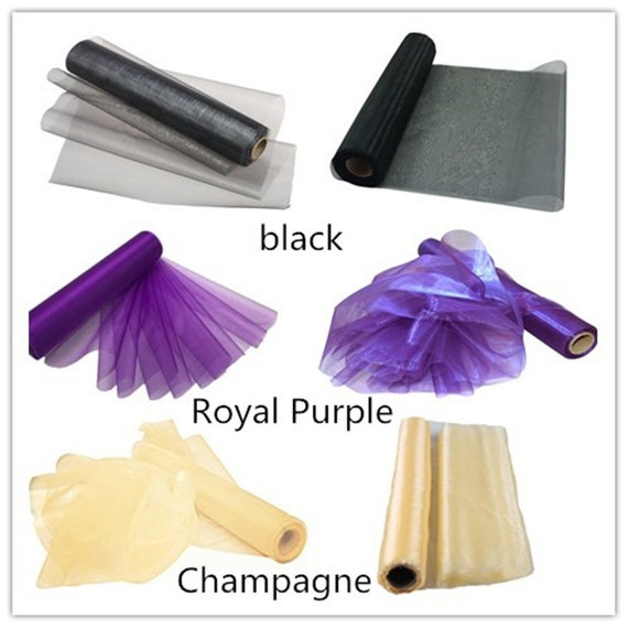 RayLineDo 50cm X 50M Organza Roll Soft Sash Fabric Wedding Chair Cover Bows Table Runner for Party in Aqua