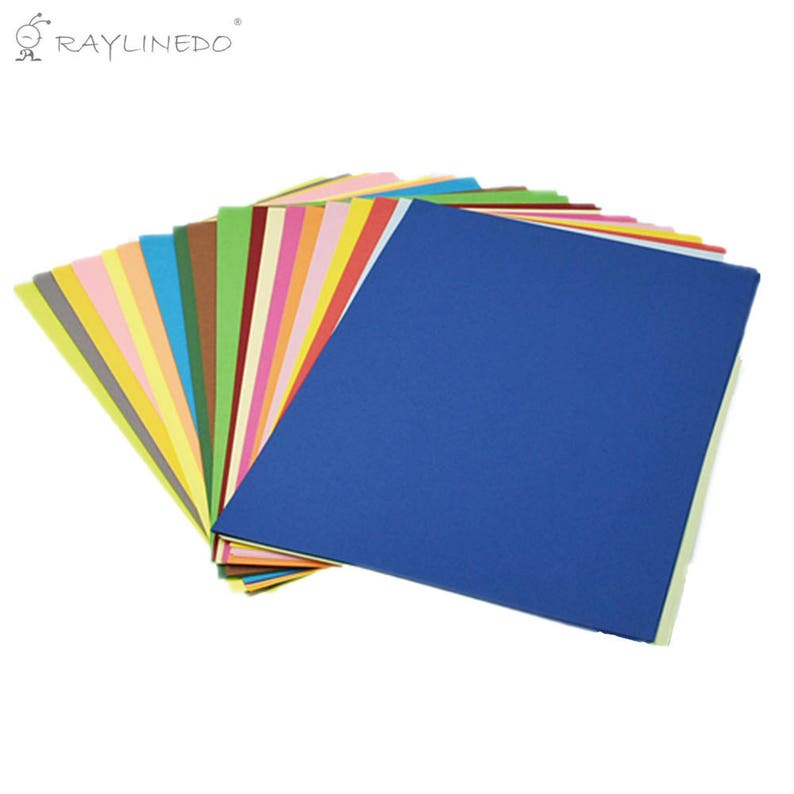 Handmade DIY Paper Colorful A4 Copy Paper 80GSM Origami Card Paper Child  Cutting Paper Material 100 Sheets Ideal for Cardmaking&Scrapbooking
