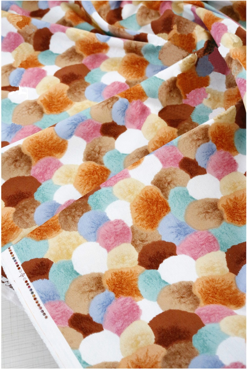 Chinese Ink Style Cotton Printed Cloth Colorful Halo Dyeing Handmade Clothing Cheongsam Fabric Quilting Sewing Art Craft Patchwork 45*110CM