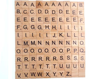 100X Wooden Scrabble Tiles Letter Alphabet Scrabbles Number Crafts English Words FIXED/UPPERCASE/LOWERCASE