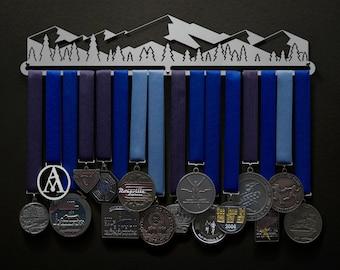 Mountain Scene - Stylized Version - Allied Medal Hanger Holder Display Rack