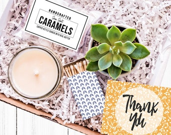 Succulent Candle and Necklace gift teacher  Thank you Thank you gift Miss You Thank You appreciation Thank you
