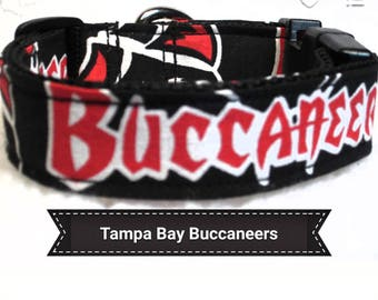 Tampa Bay Buccaneers Dog Collar Side Release Buckle 1 15 Inches Wide Collars