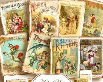 printable pictures, fairy tales, ATC, card making, shabby chic, ephemera, trading cards, gift tags, ornamental cards, artist cards, vintage