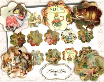Animals for card making scrapbook vintage gift tags small, printable pages album scrapbook card decoration shabby chic ornament