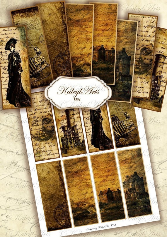 5x2 inch printable bookmark victorian,domino couples vintage romantic for scrapbook magnets DIY,lovely in love photo card making