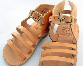 Hermes design kids Sandals, handmade Greek Children Sandals, Girl Hermes Kids sandals, leather sandals for kids, hermes sandals