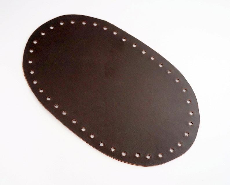 Donkere Kleine Bruine Breien Kleur VormOnderZak In BodemAccessoires Lederen Bodem Tas Ovale 2IEHWD9