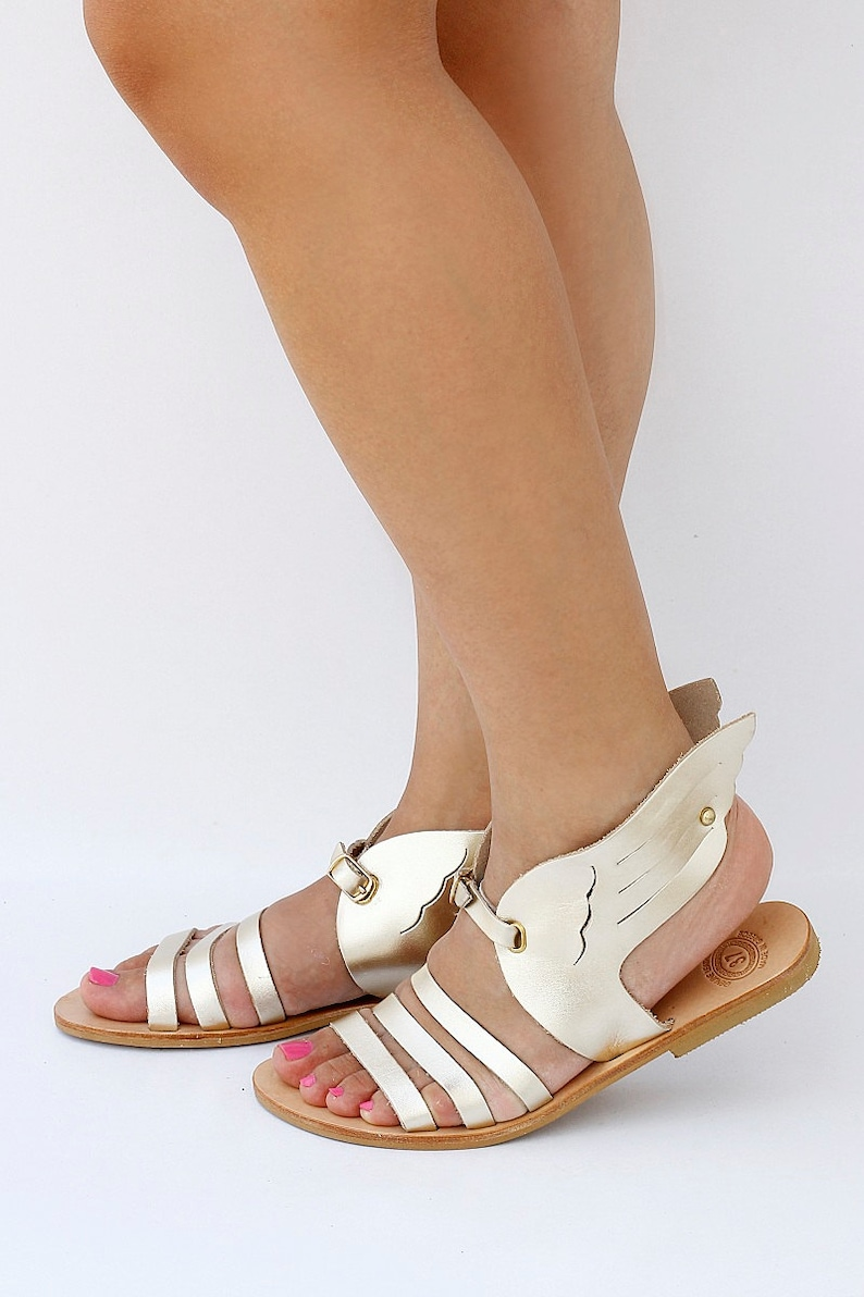 200f8787117b Women Hermes Sandals in gold color handmade Greek Sandals