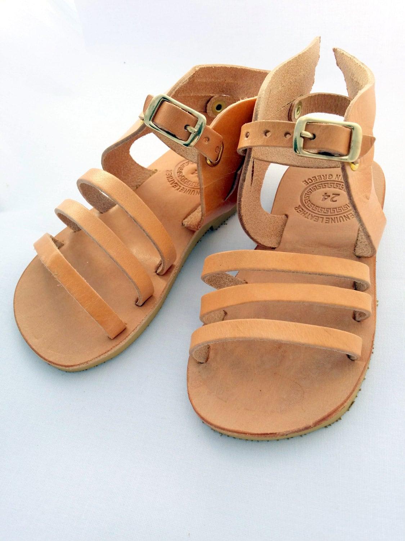 1c9652614516 Hermes design kids Sandals handmade Greek Children Sandals