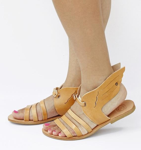 Straps Greek ColorHandmade HermesDesign In SandalsLeather Tanned Sandals Natural Women Hermes 5TKucl3F1J