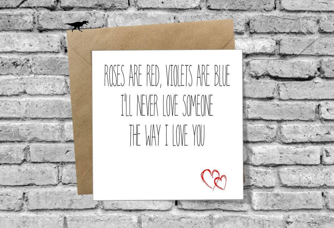 Roses are red Violets are Blue Greetings Card for Birthday   Etsy