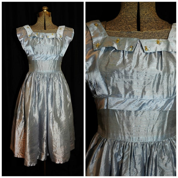 VTG 50's 60s / Teena Paige Blue Formal Dress / XXS
