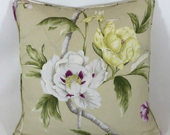 Zoffany Designer Cushion Cover Anjolie Contrast piped Stunning Embroidery