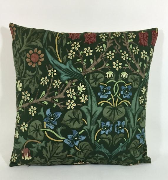 "William Morris /& Co Tissu Housse De Coussin /""Blackthorn/"" vert"