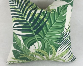 Sanderson Fabric Cushion Cover ~Manila in green design  and blue design - Pillow throw many sizes