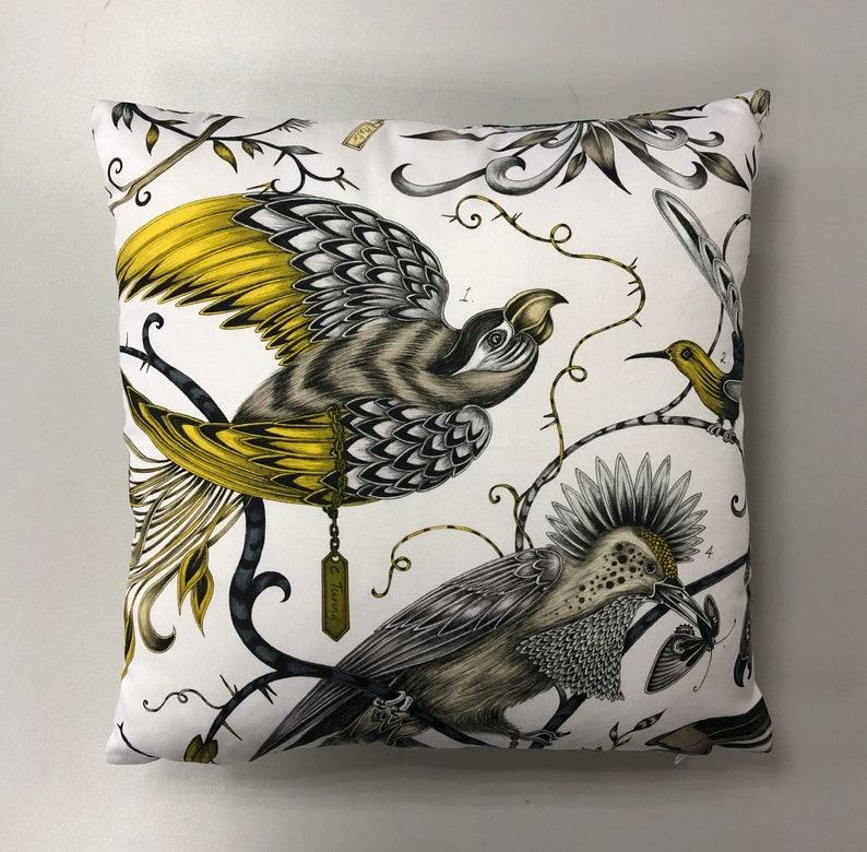 Audubon Clarke and Clarke Cushion Cover Pillow Throw Gold