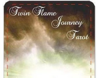 PRE-ORDER ONLY Friday October 4th Shipment  - (No Instruction booklet) Twin Flame Journey Tarot/Oracle Deck by Mystic Moon