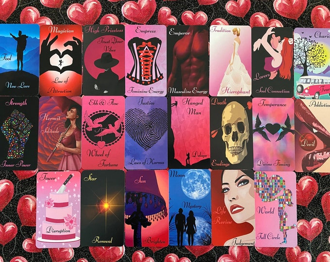 Arrows of Love Tarot by Mystic Moon - Pre-Order Only - Ships Saturday Oct 30th (No Instruction Booklets or PDF's Included) FREE SHIPPING