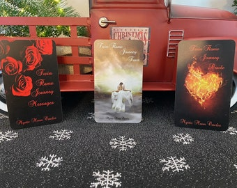 Twin Flame Journey Bundle Deck Deal * Tarot, Oracle & Messages Deck Combo - Pre-Order Only (Ships 1/30/21)
