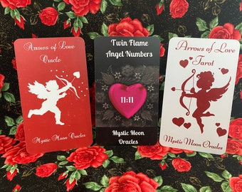 Lover's Trio - 3 Deck Deal - Arrows of Love Oracle, Tarot & Angel Numbers - Ships 7/31/21 FREE SHIPPING