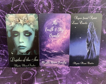 Elements 3 Deck Trio - Depths of the Sea, Earth & Sky and Signs from Spirit - Ships 7/31/21 FREE SHIPPING