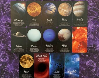 Earth & Sky Oracle created by Mystic Moon - Ships Saturday July 31st - FREE SHIPPING (No Instruction Booklet or PDF included)