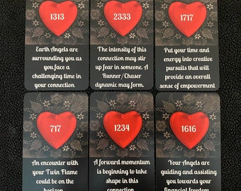 Twin Flame Angel Numbers Oracle by Mystic Moon - Ships Saturday Oct 30th - (No Instruction booklet or PDF Included) FREE SHIPPING
