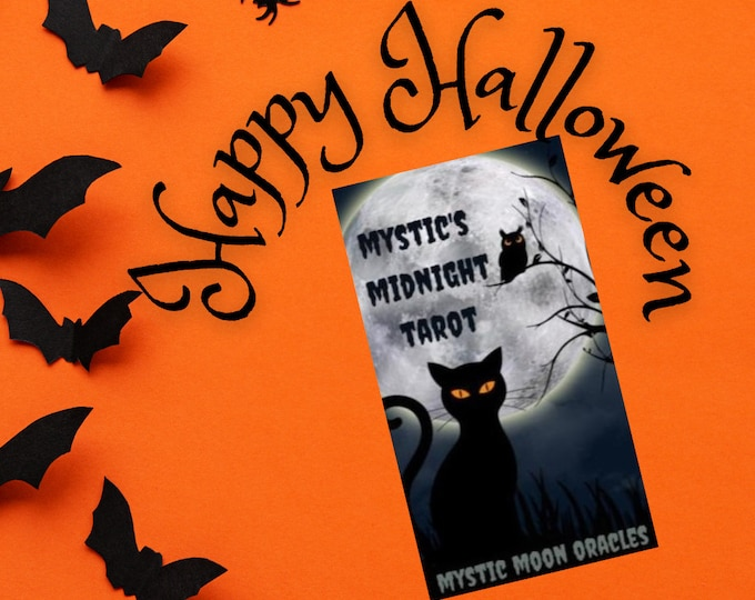 Mystic's Midnight Halloween Tarot Ships Saturday Oct 30th (No Instruction booklet or PDF Included) FREE SHIPPING