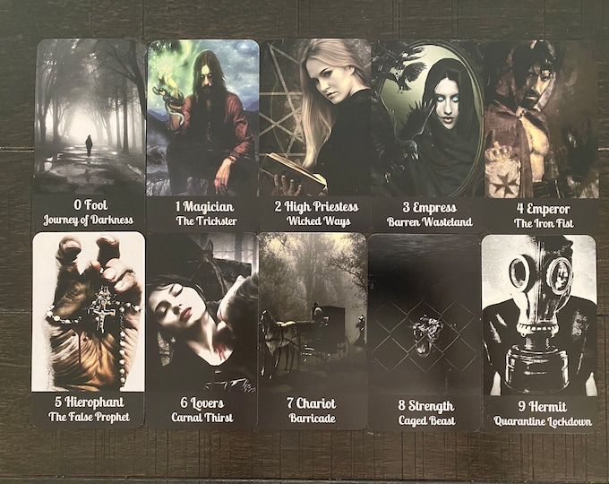 Dark Night of the Soul Tarot by Mystic Moon - Ships Saturday Oct 2nd- (No Instruction booklet or PDF Included) FREE SHIPPING