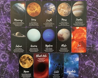 Earth & Sky Oracle created by Mystic Moon - Ships Saturday Oct 30th - FREE SHIPPING (No Instruction Booklet or PDF included)