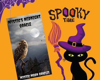 Mystic's Midnight Halloween Oracle by Mystic Moon - Ships Saturday Oct 30th (No Instruction booklet or PDF Included) FREE SHIPPING