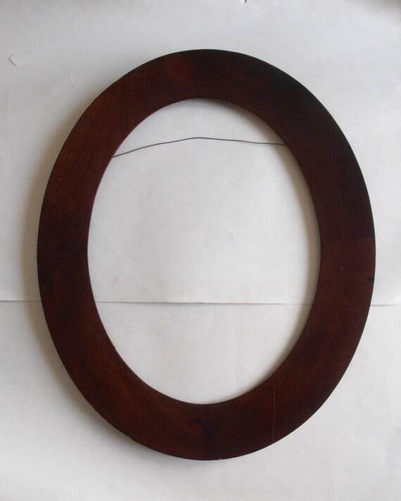 antique big wooden oval frame | Etsy