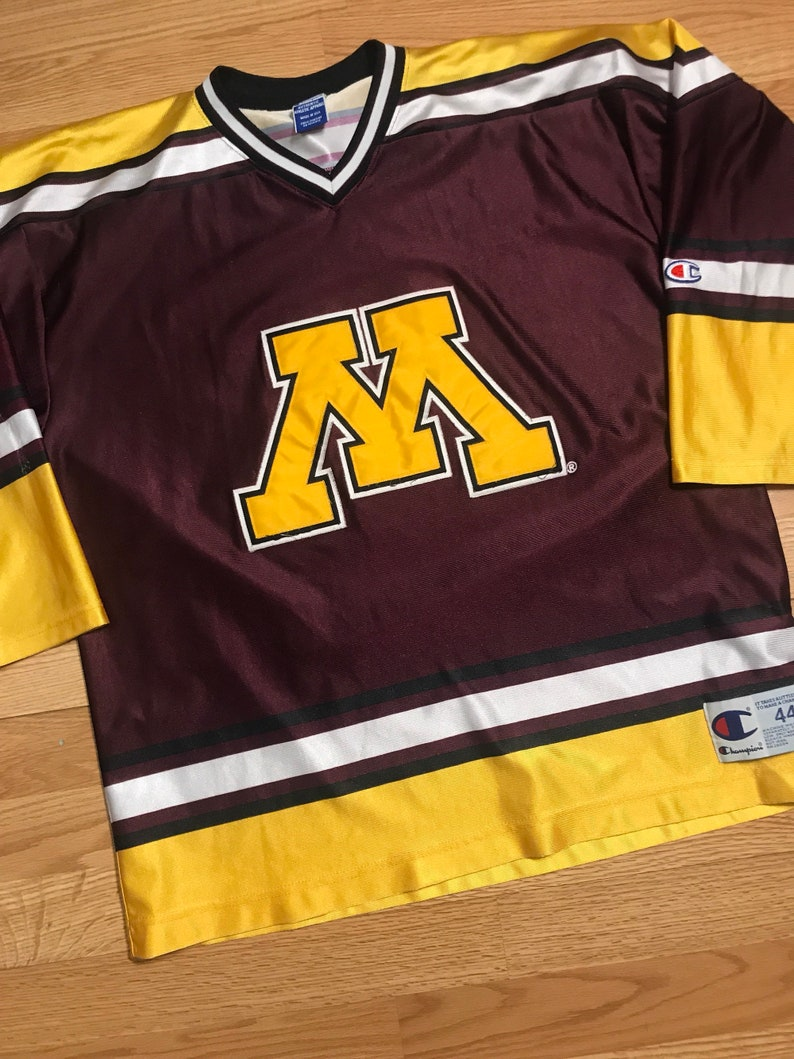 on sale ad639 715cf Vintage Minnesota gophers champion hockey jersey size 44 large