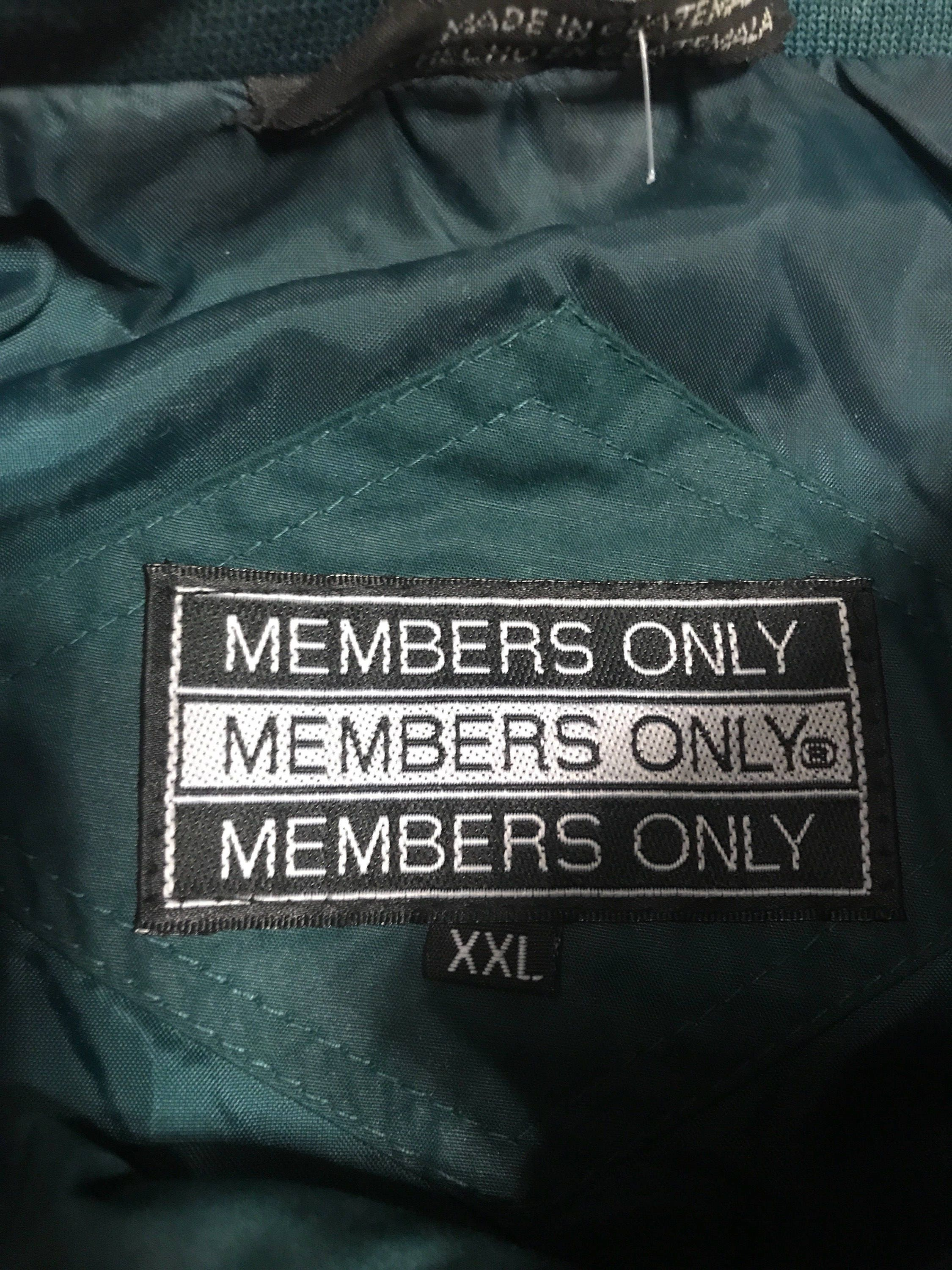 Vintage Members Only Jacket Size Xxl