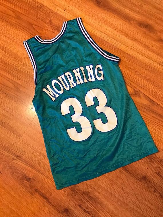 Vintage champion Alonzo mourning charlotte hornets jersey size 36 0hjTokU