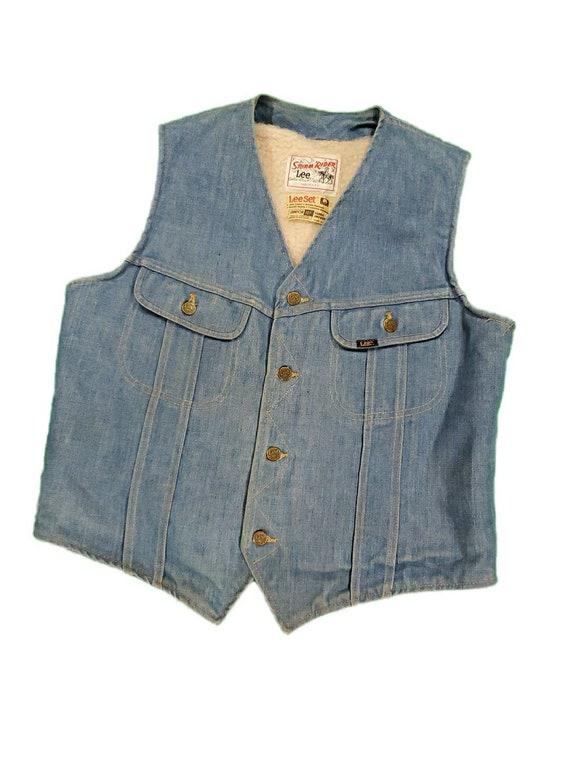 Vintage lee storm rider denim vest size medium